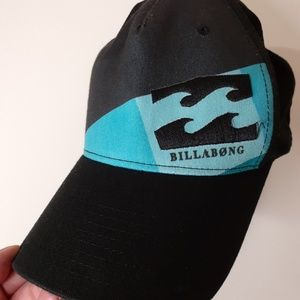 Billabong Black and Teal Blue Hat